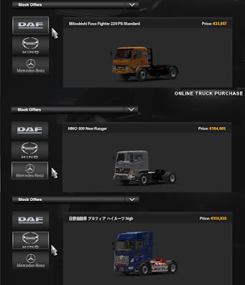 Truck Pack Hino Fuso ETS2 1.41 Convoy