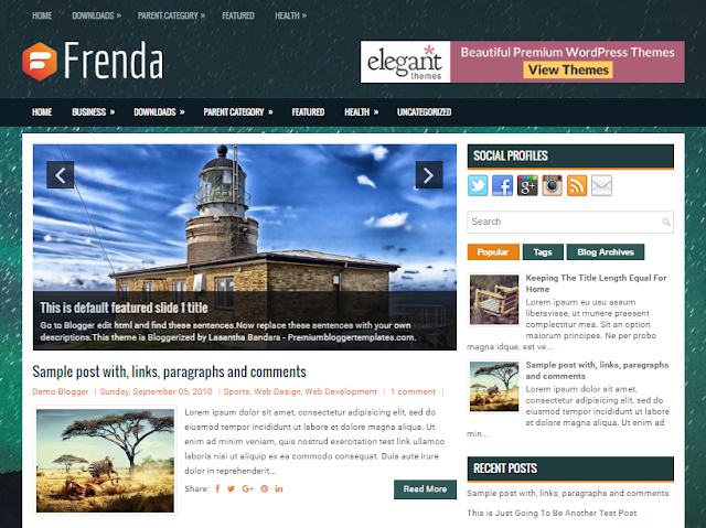 Frenda Blogger template