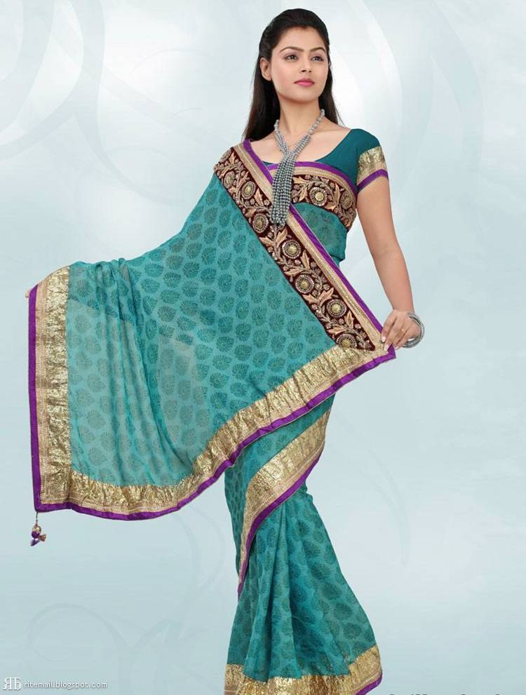 2dd29b3d91 Models Promoting New Saree Designs For Diwali 2011-12 | New Saree  Collection 2011-12 Winter Season