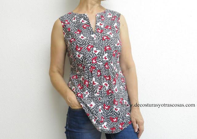 tutorial paso a paso para hacer una blusa fácil y ligera