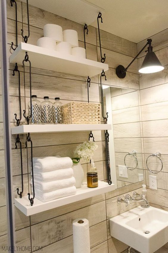 Shelves Are Really Practical For Almost Everything, Not The Least Of Which  Being A Creative Wall Storage For Your Small Bathroom.