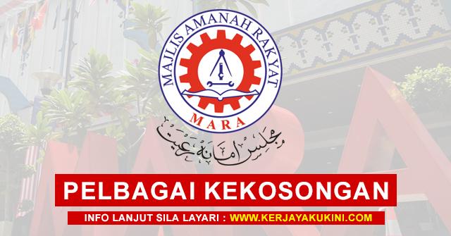 Majlis Amanah Rakyat Malaysia (MARA) Buka Pengambilan Pelbagai Kekosongan Jawatan Terkini ~ Mohon Sekarang!