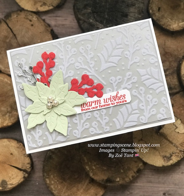poinsettia stamps and dies christmas card