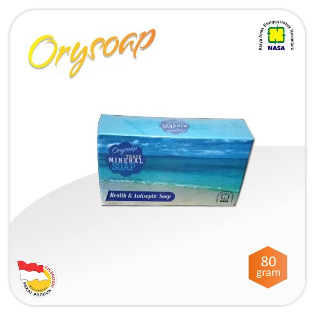ORYSOAP Trace Mineral Soap adalah sabun mandi ORYSOAP series dari NASA yang dapat membantu membersihkan tubuh sewaktu mandi dan memberikan keharuman pada badan.