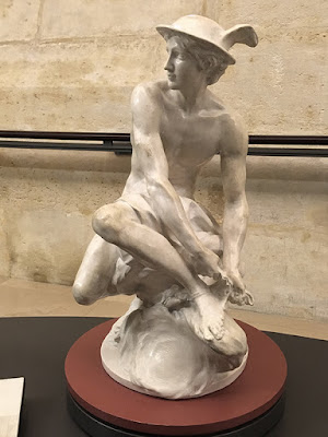 The Mercury sculpture in The Louvre