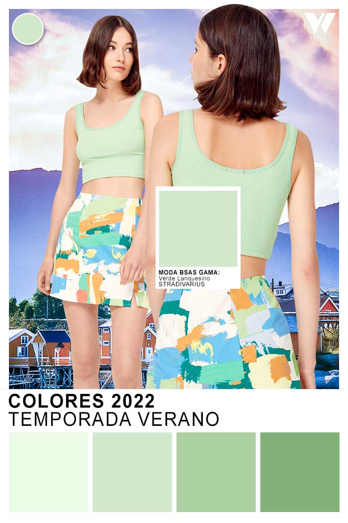verdes celestes colores primavera verano 2022