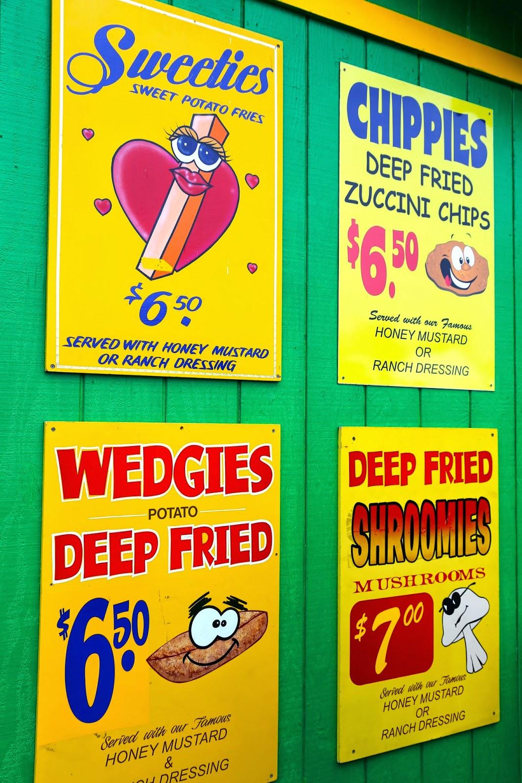 Food signs, Alaska State Fair