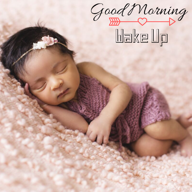 Sleeping cute girl Baby Good Morning Images