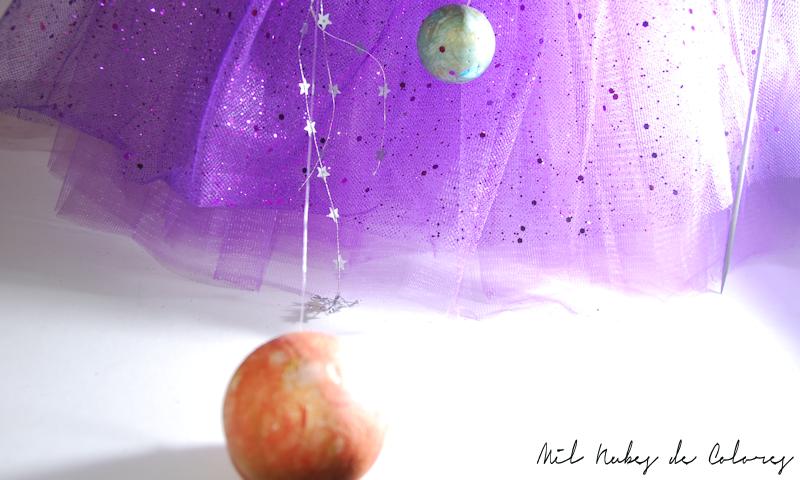 disfraz de niño. Sistema solar y astronauta DIY