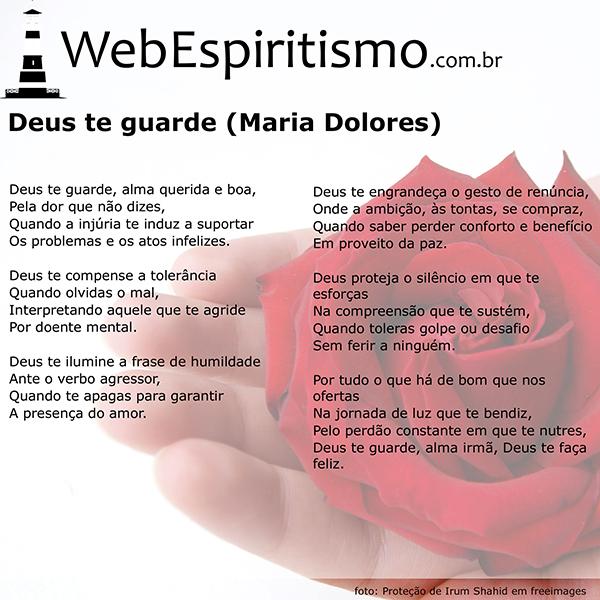 Webespiritismo Deus Te Guarde Maria Dolores