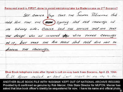 Initial Blue Book Telephone Notes Re Socorro - Red Marking (2)