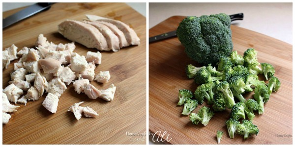 chicken and broccoli chopped for casserole