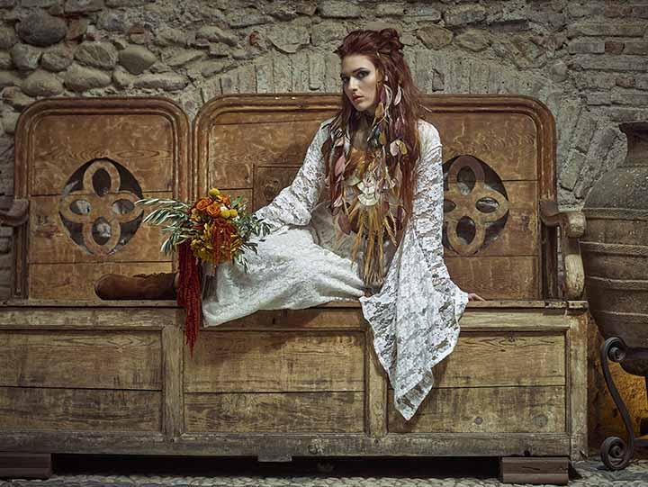 peinado de novia accesorios en pelo suelto