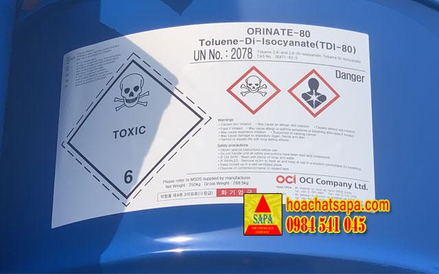 ORINATE-80 Toluene-Di-Isocyanate (TDI-80)