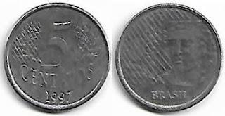 5 centavos, 1997