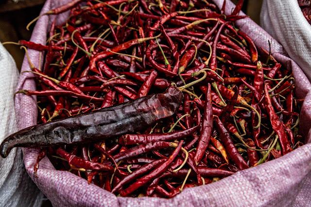 Dried guajillo pepper