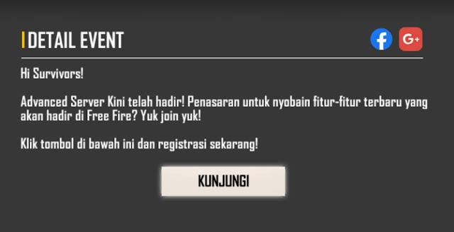 Advance Server OB30 Free Fire September 2021