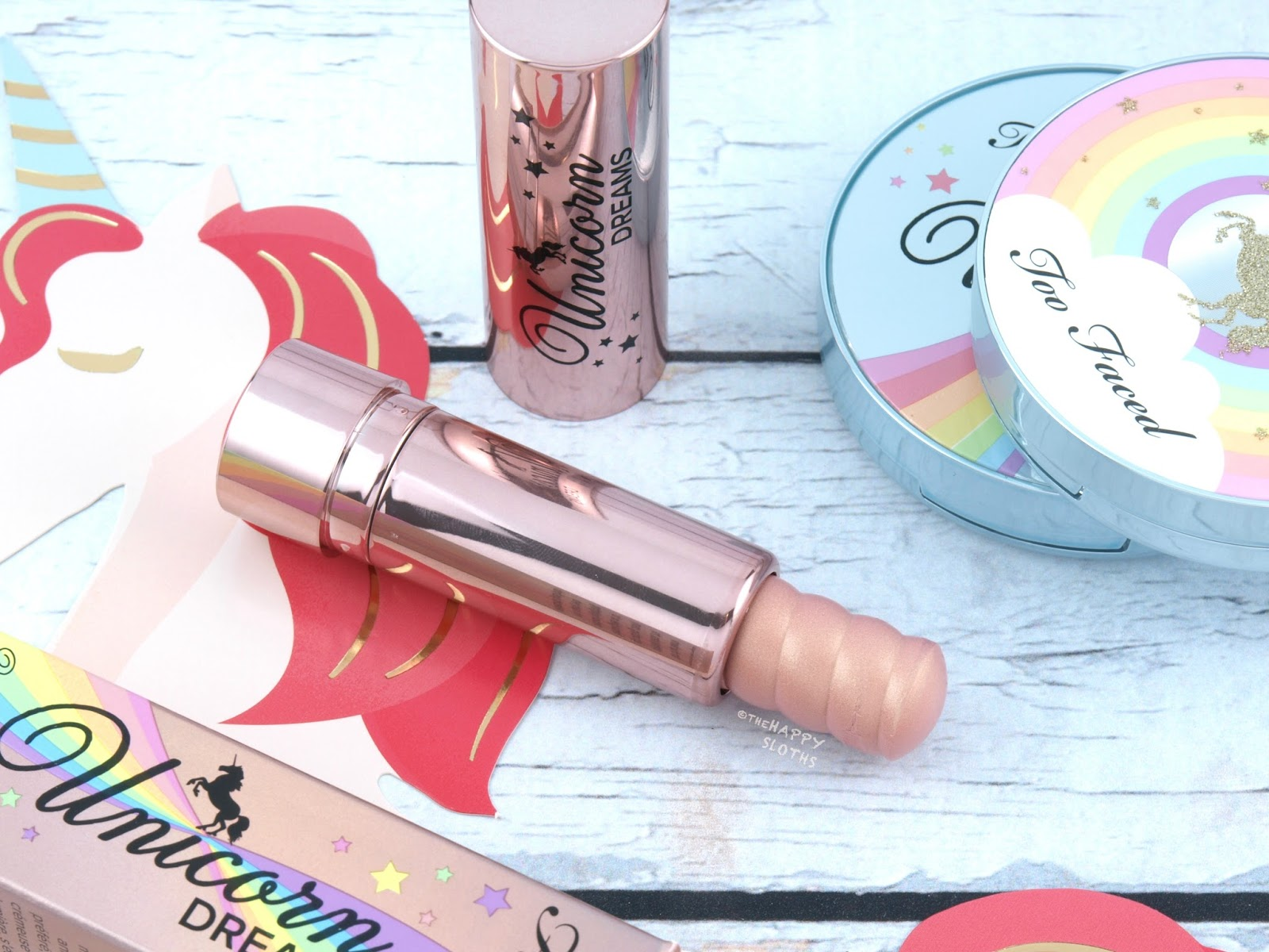 Too Faced | Life's A Festival Unicorn Dreams Unicorn Horn Highlighting Stick: Review and Swatches