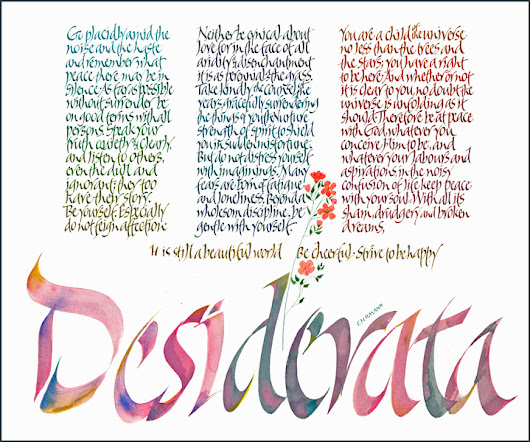 Fun job perk: finding interesting stuff! This week - Desiderata