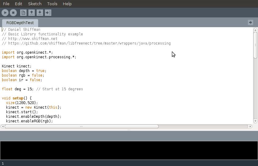 TheRandomLab: Kinect with Processing on Ubuntu Linux