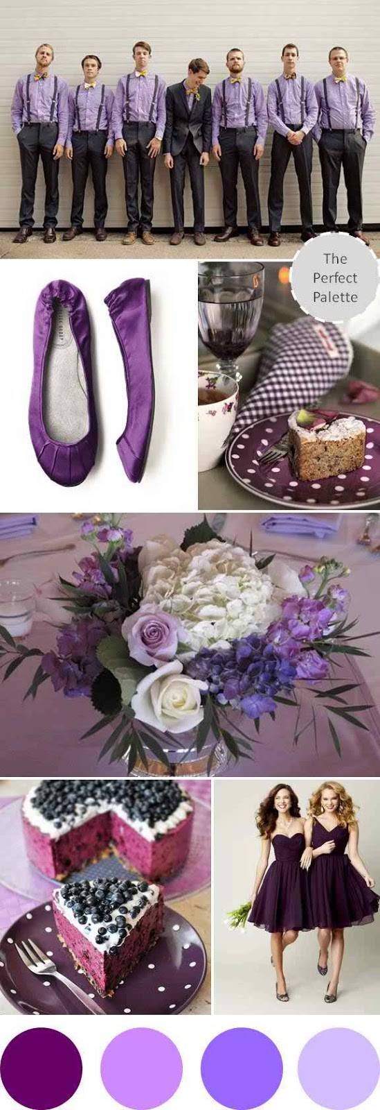 Wedding Colors I Love}: Shades of Plum!   The Perfect Palette