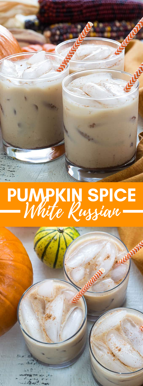 PUMPKIN SPICE WHITE RUSSIANS #drinks #falldrink