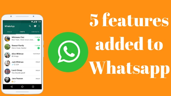 These Amazing 5 Features Added To Whatsapp A Big Change