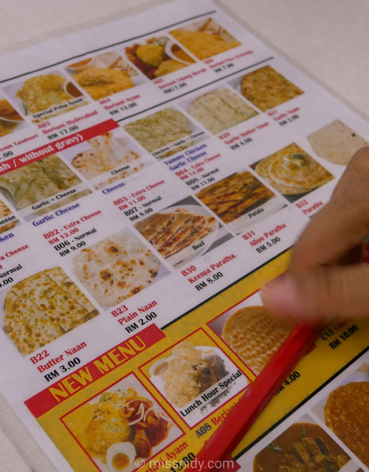 menu rsmy house of briyani