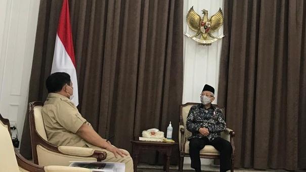 Ramai Isu Ma'ruf Amin Mundur dari Wapres RI, Prabowo Disebut Paling Tepat jadi Pengganti