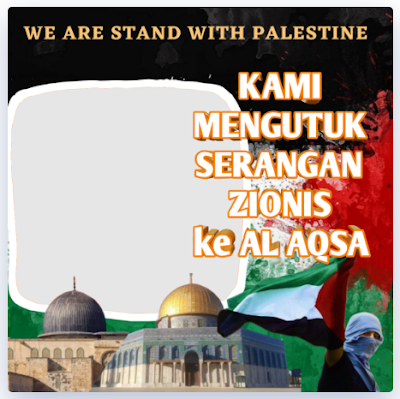 Twibbon Kami Bersama Palestina 2021