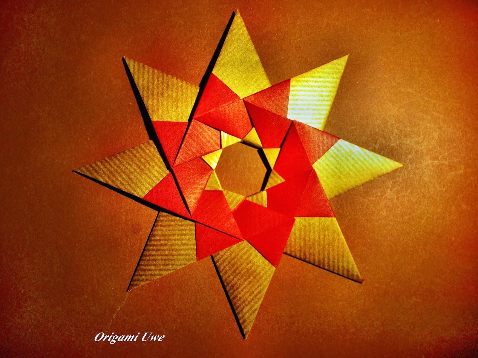 Origami, Fleurogami und Sterne: Modular Origami Star - photo#33