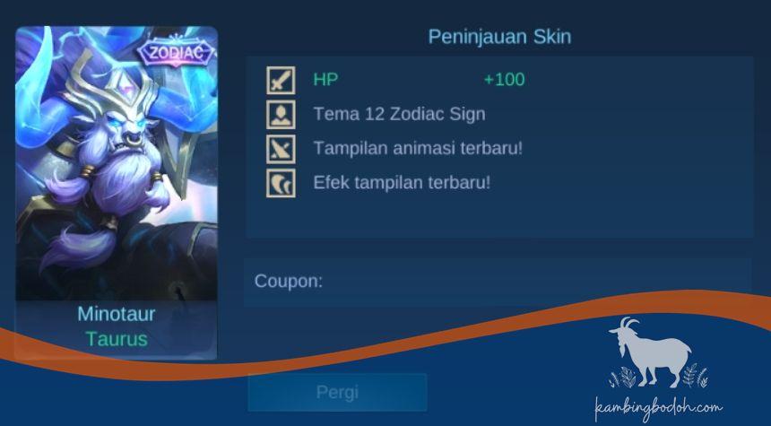 Skin Minotaur - Taurus(20 April-20 Mei)