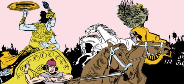 Battle between Krishna and Vanasura