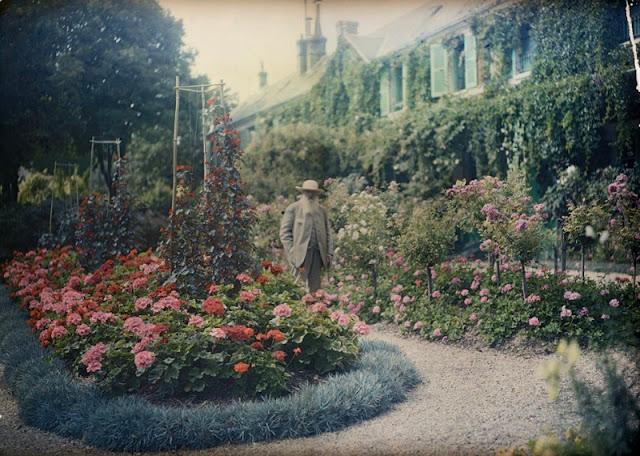 Fotografía de Monet en Giverny 1921