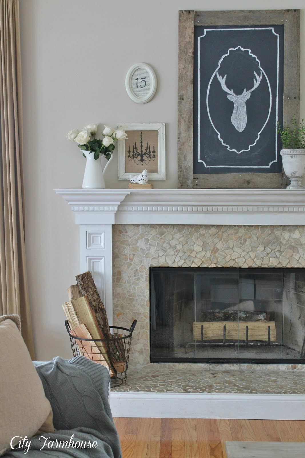 Family Room Reveal Thrifty Pretty Amp Functional City