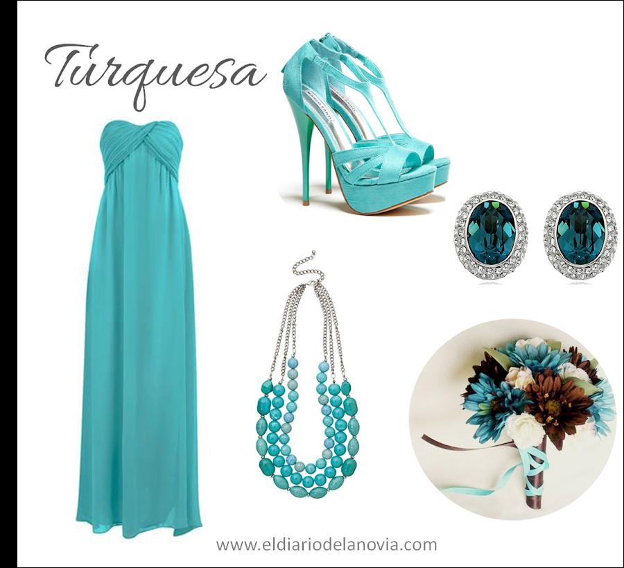 Damas de honor de color turquesa