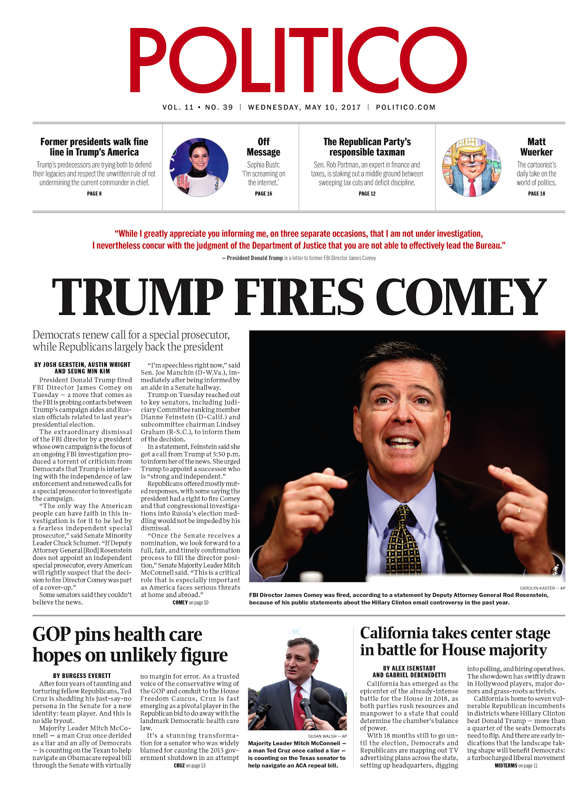 Trump fires Comey