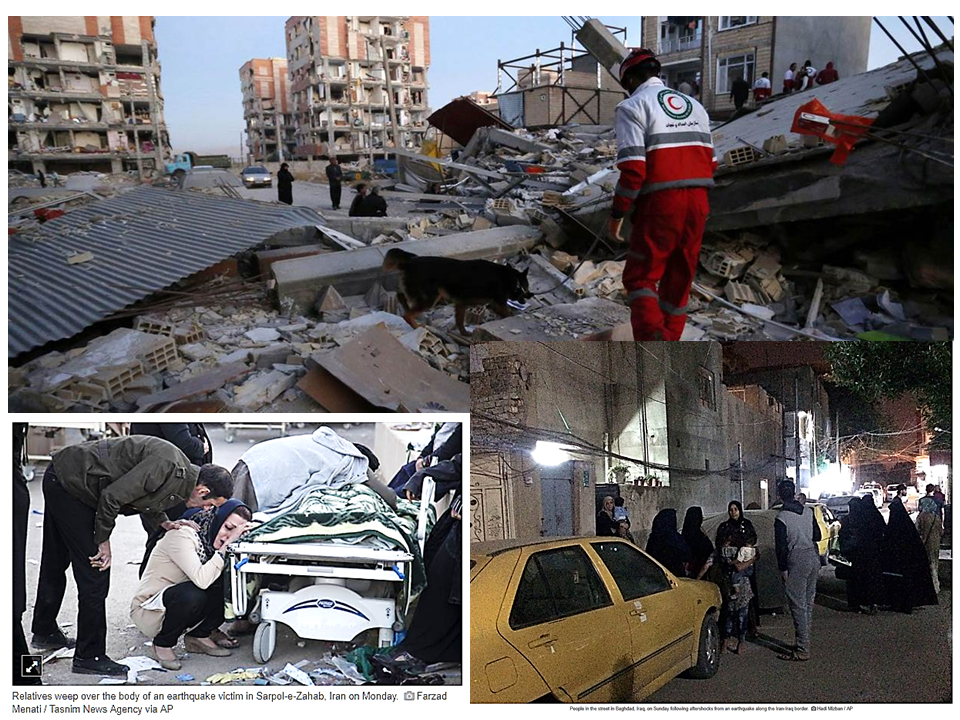 A 7.3 magnitude earthquake was felt in the Middle East particulkarly in Iran, Iraq, Kuwait, and part of Saudi Arabia.The  hardest hit province was Kermanshah. More than 142 of the victims were in Sarpol-e Zahab county in Kermanshah province, about 15 km (10 miles) from the Iraq border. According to the U.S. Geological Survey, its epicenter is at around 32km outside the Iraqi city of Halabja. About almost 400 people were killed by the disaster.    Sponsored Links        The damage extends to Kermansha, Iran where properties were badly damaged and lives were lost.    People of Iran work hand-in hand to find possible survivors of the devastating earthquake.  Advertisement Electricity and water was cut off in several Iranian and Iraqi cities, and fears of aftershocks sent thousands of people in both countries out onto the streets and parks in cold weather.  Rescue workers and special teams using sniffer dogs and heat sensors searched wreckage. The rescue operations had difficulties in reaching remote villages due to blockage.  Iranian authorities admit that the relief effort was slow and patchy to reach more than 70,000 people that needed emergency shelter especially that they are out, cold and in need of a shelter.     Read More:      ©2017 THOUGHTSKOTO
