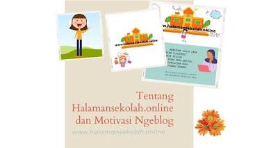 halamansekolah.online dan motivasi ngeblog