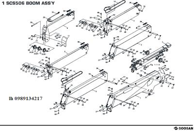 Đốt cần của Cẩu soosan 5 tấn SCS513-SCS514-SCS505-SCS506