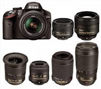 Nikon-D3200-lenses