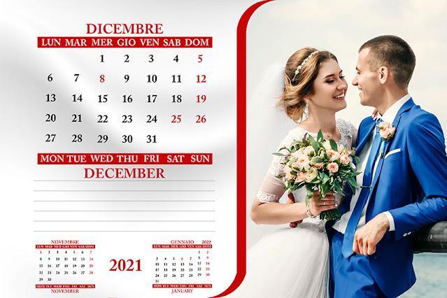 Calendario bimestrale da tavolo testo italiano/inglese