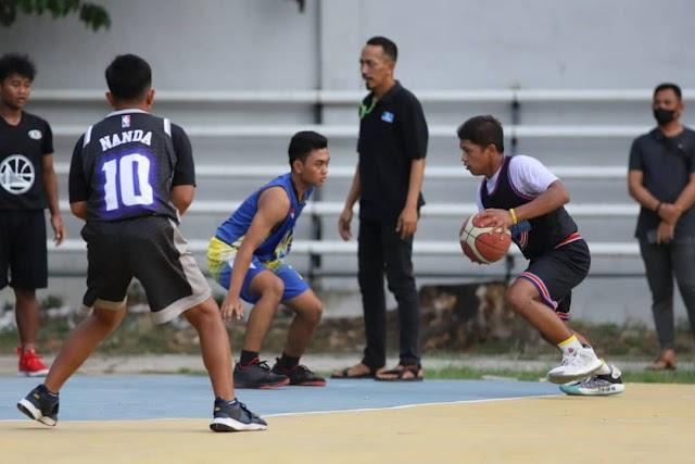 Pertandingan Persahabatan Tim Basket Lilawangsa  APL Dengan GAP Banda Aceh (Junior)