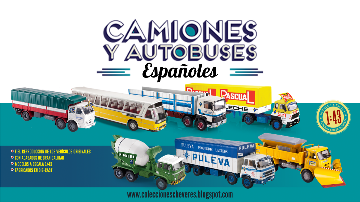 Colección camiones y autobuses españoles 1:43 salvat
