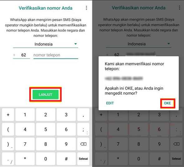 Verif Kode WhatsApp