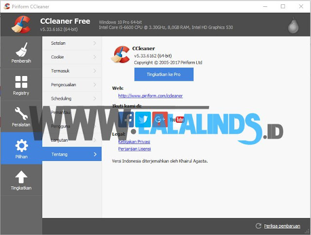 Download CCleaner 5.33.6162 Gratis Terbaru Offline Installer