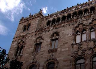 El imponente Palacio Postal (Palacio de Correos) en Mexico