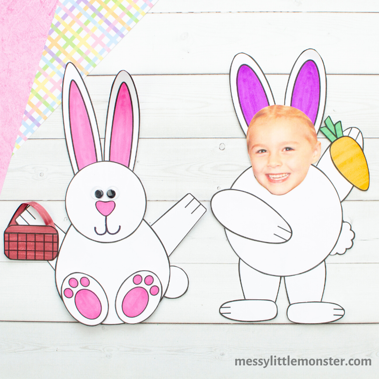 Mix and match paper bunny craft