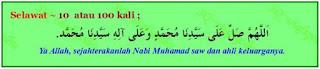 banyakkan selawat ke atas Nabi di bulan Rejab