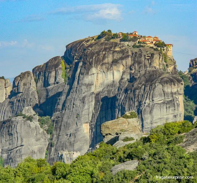 Mosteiro de Agia Triada (Santíssima Trindade), em Meteora, Grécia